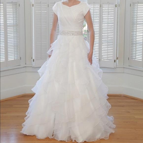 Wedding Dresses & Skirts - Fabulous Organza Modest Custom Made Wedding Dress